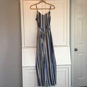Striped blue /white tank Jumpsuit